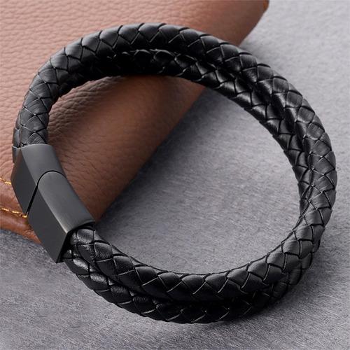 pulseras para hombre de cuero elegantes lujo regalo  manilla