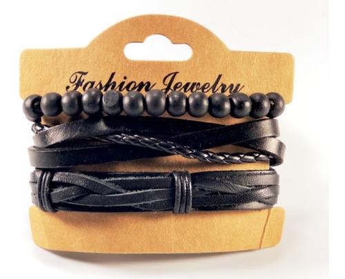 pulseras para hombre de cuero genuino