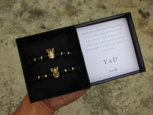 pulseras para pareja infinito caja regalo cuero pgs
