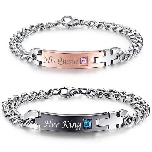 pulseras para pareja king and queen rey reina regalo novio