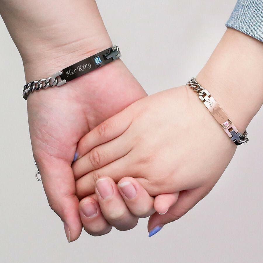 b2af461297a7 pulseras para pareja king and queen rey reina regalo novio. Cargando zoom.