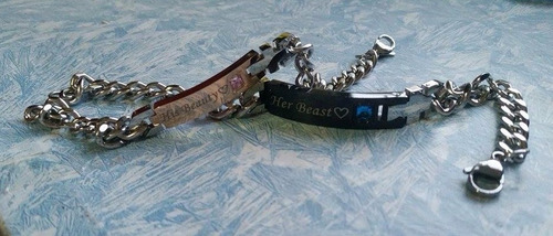 pulseras para parejas bella y bestia his beauty her beast