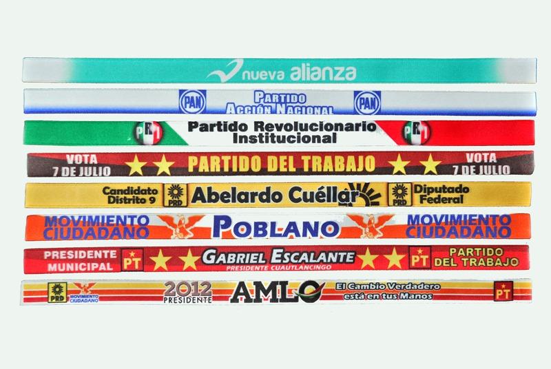 5119a5cc2a43 Pulseras Personalizadas Campaña Elecciones No Bordadas -   5.00 en ...