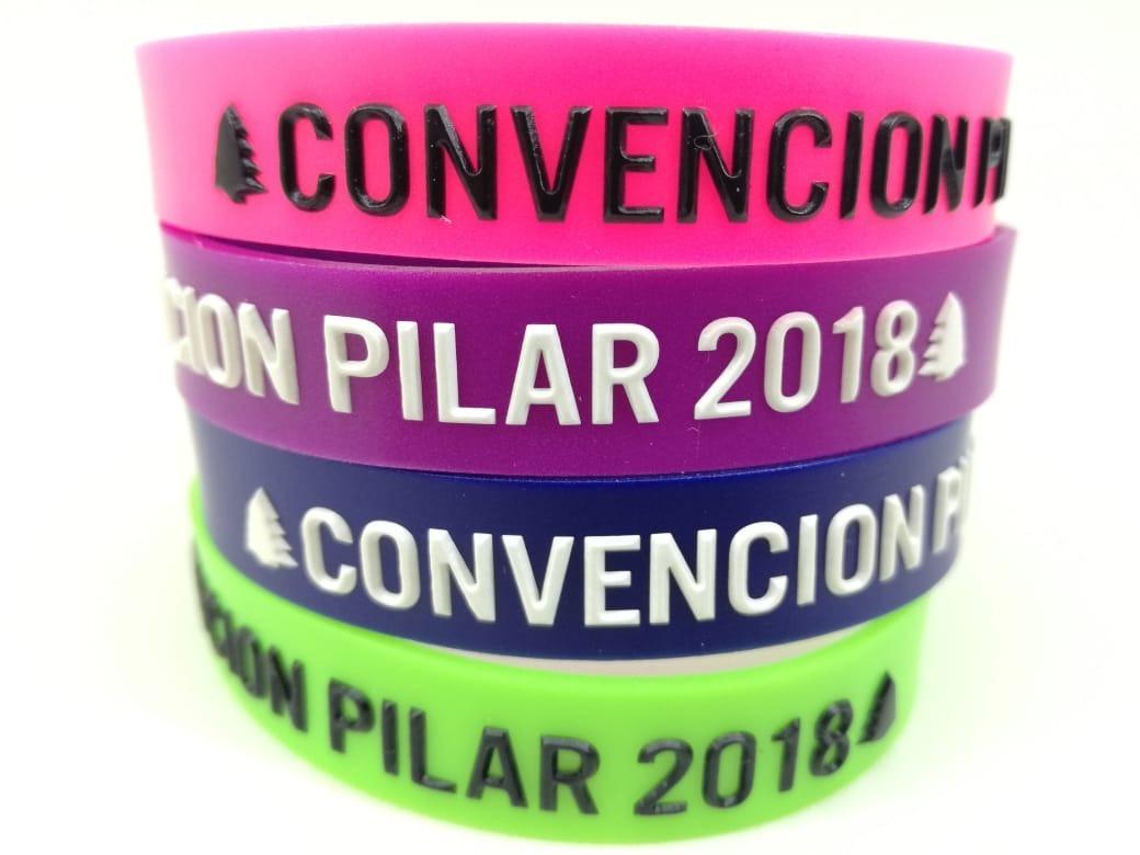 0ad1267c5f06 Pulseras Personalizadas De Goma Pack 1000und - Bicolor