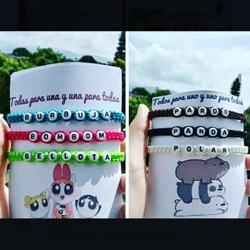 pulseras personalizadas de letras