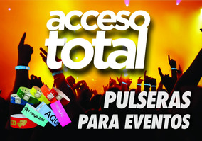 5aea45c71b50 Pulseras Personalizadas Eventos Vinilo Vip Acceso Total