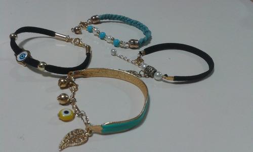 pulseras personalizadas moda/letras/. y pucas. el par 30 mil