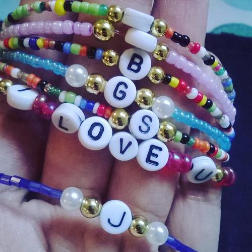pulseras personalizadas para parejas , amistad . 2 x1