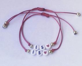 63d28d8961d0 Pulseras Personalizadas Para Parejas - S/tejer - 6000 El Par