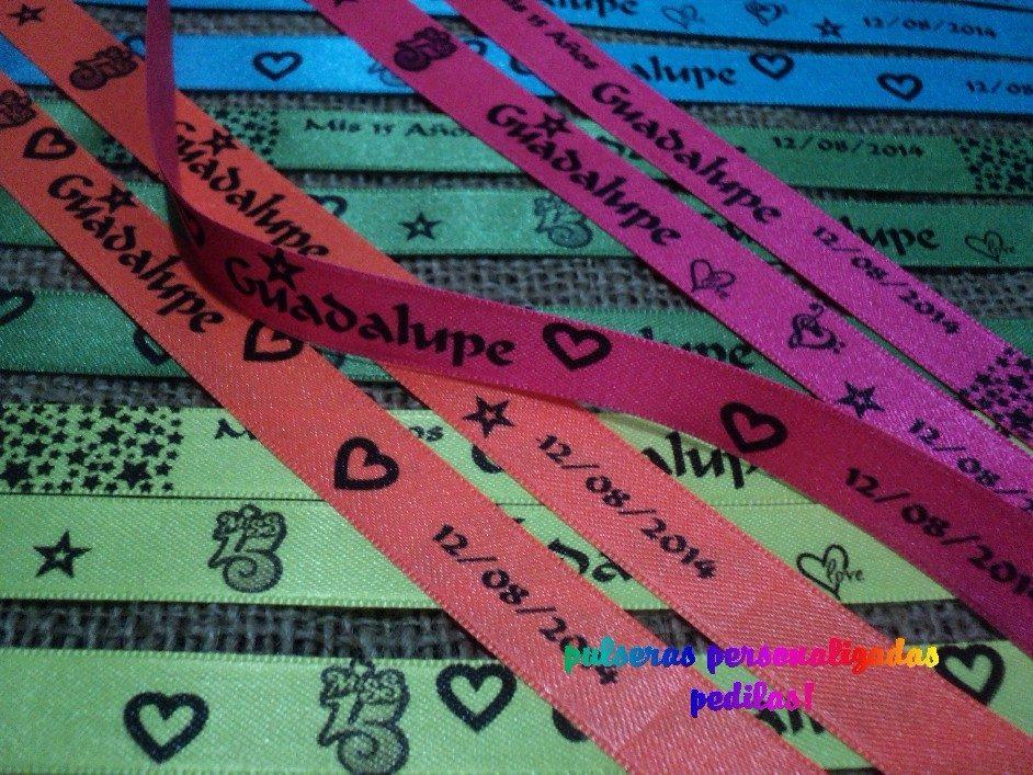 2b92e3964c98 pulseras personalizadas souvenir eventos cumpleaños 15. Cargando zoom.