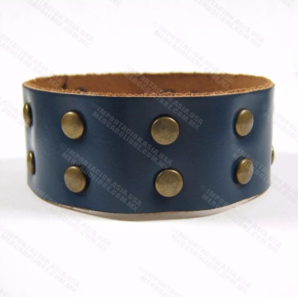 1d8a27826d38 pulseras piel genuina brazaletes muñequeras picos por talla. Cargando zoom.