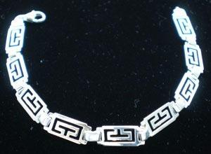 pulseras plata proteccion grecas corazon gato pez cristiano