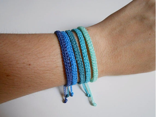 pulseras regulables de hilo encerado - 1 unidad