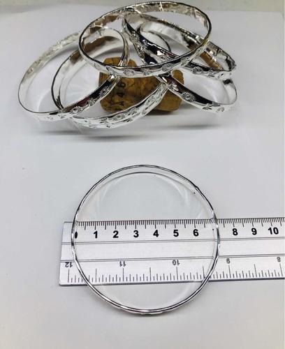 pulseras semanario baño en plata
