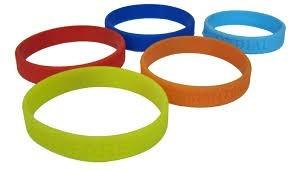 pulseras siliconas     250  millar  1 color