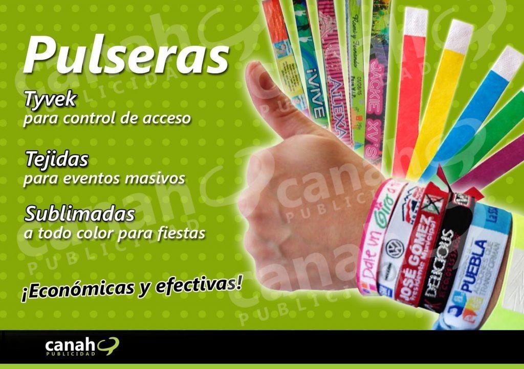 03302f939b34 Pulseras Tejidas Bordadas Promocionales Tyvek Publicidad -   1.00 en ...
