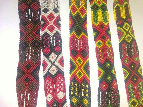 pulseras tejidas de guatemala hilo encerado artesanales