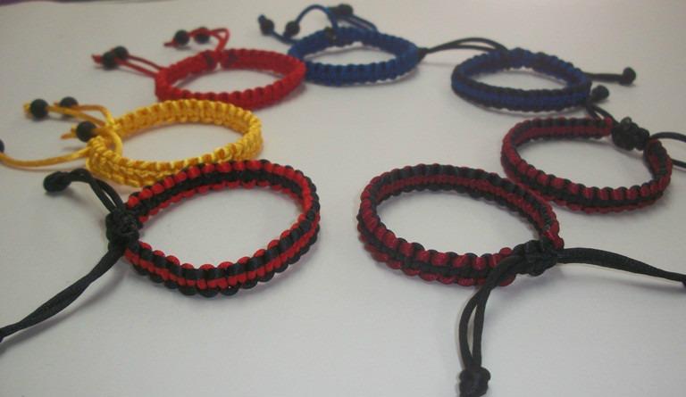 pulseras tejidas para damas en hilo cola de raton