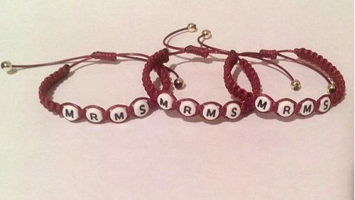 pulseras tejidas personalizadas - amor y amistad!! - pareja