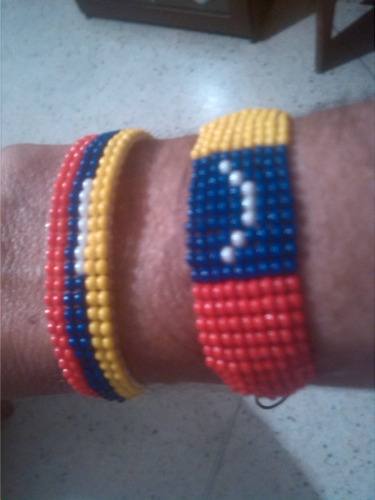 pulseras tricolor venezolano estilo miyuki