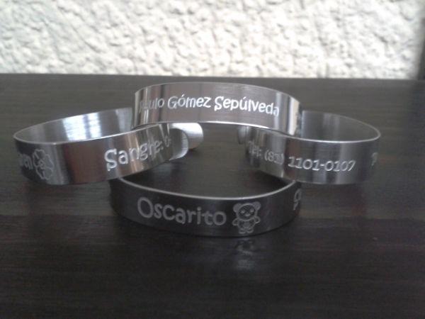032601155d49 Pulseras brazaletes Acero Inoxidable Identificación Personal ...