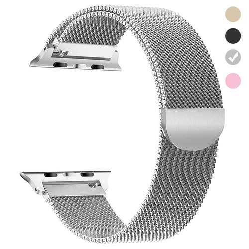 pulso 38mm reloj apple iwatch serie 1 2 3 silver plateado