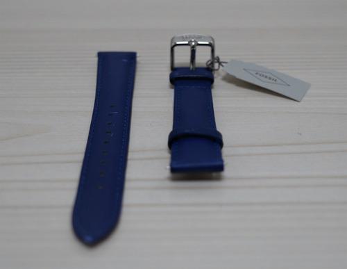 pulso de cuero fossil de dama 14mm azul