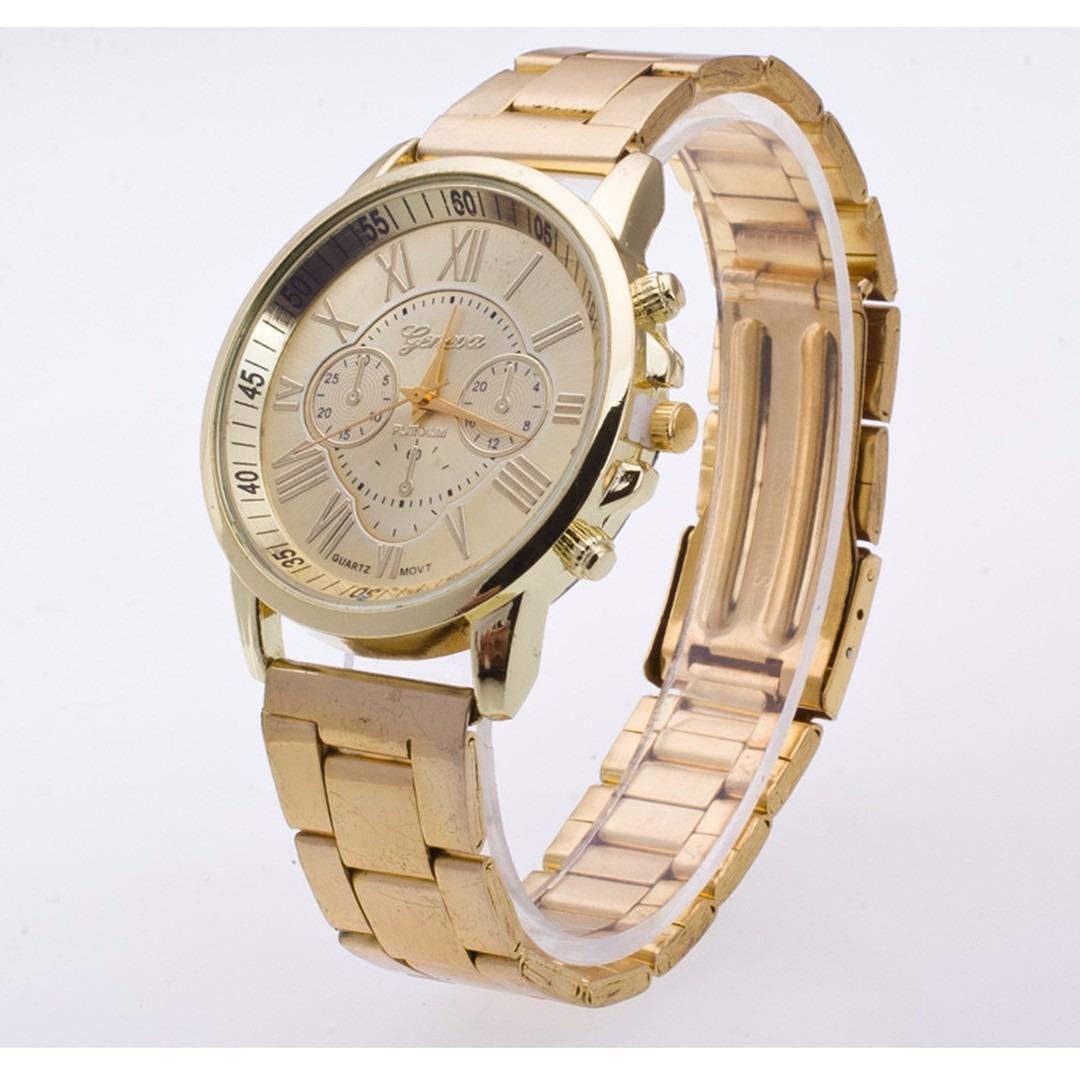 d8053ac9592 Carregando zoom... lindo relógio pulso feminino dourado aço inóxidavel  mulher