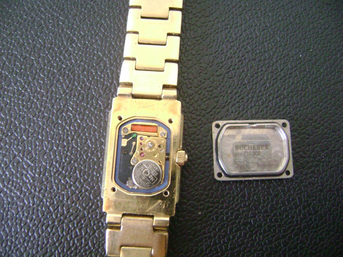 83dda8154c7 Relógio De Pulso Feminino Em Plaquê De Ouro Bucherer Swiss - R  349 ...
