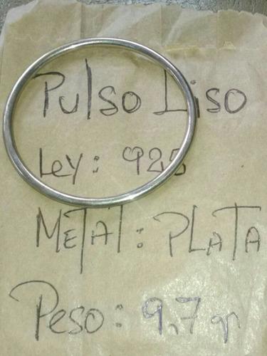 pulso liso para de 5.5cm x 3mm nuevo 9.7 gramos de plata 925