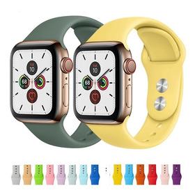 Pulso Manilla Correa Silicona Para Apple Watch 38 40 42 44