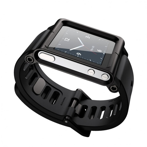 pulso manilla para ipod nano 6 tipo lunatik negro+screen pro