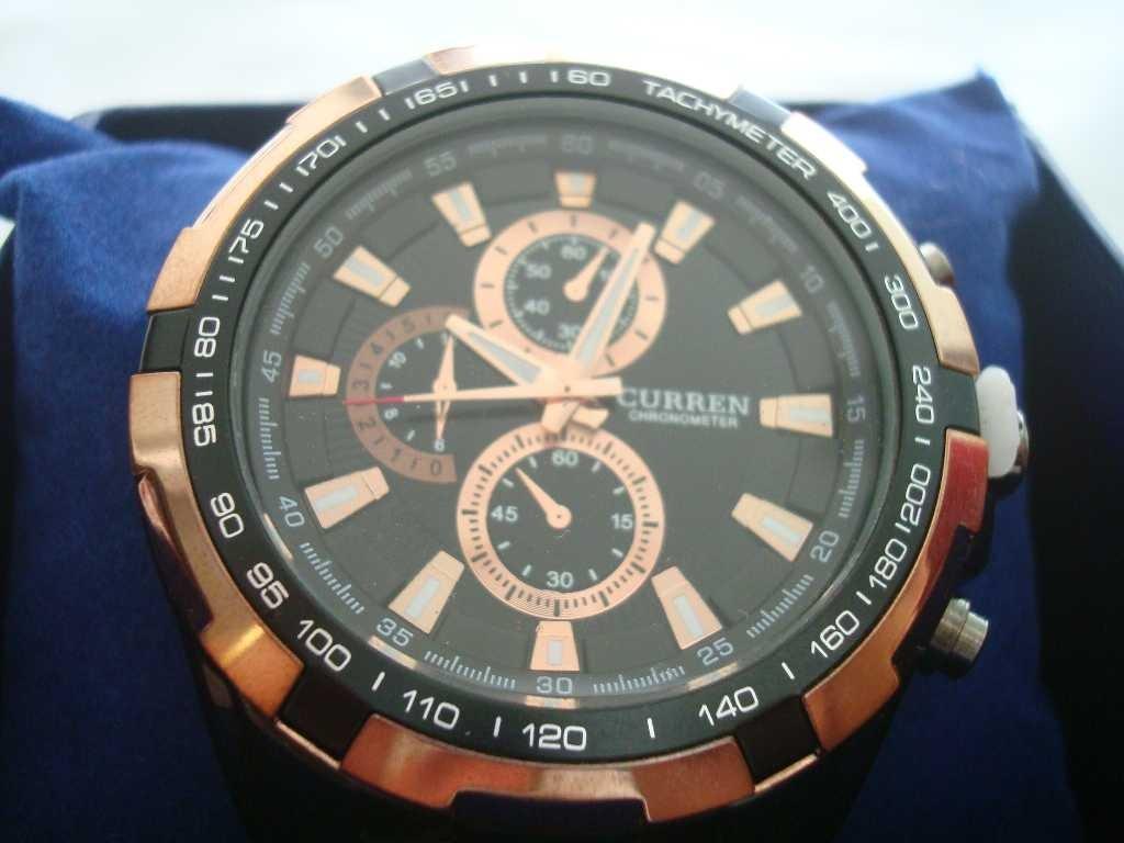 09f28f9071e Carregando zoom... relógio de pulso masculino - só tem o preto e dourado