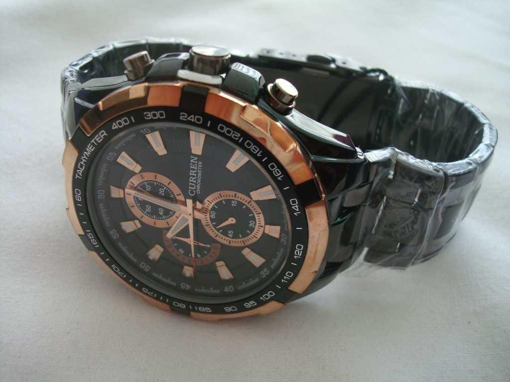 a1df986a160 Relógio De Pulso Masculino - Só Tem O Preto E Dourado - R  205