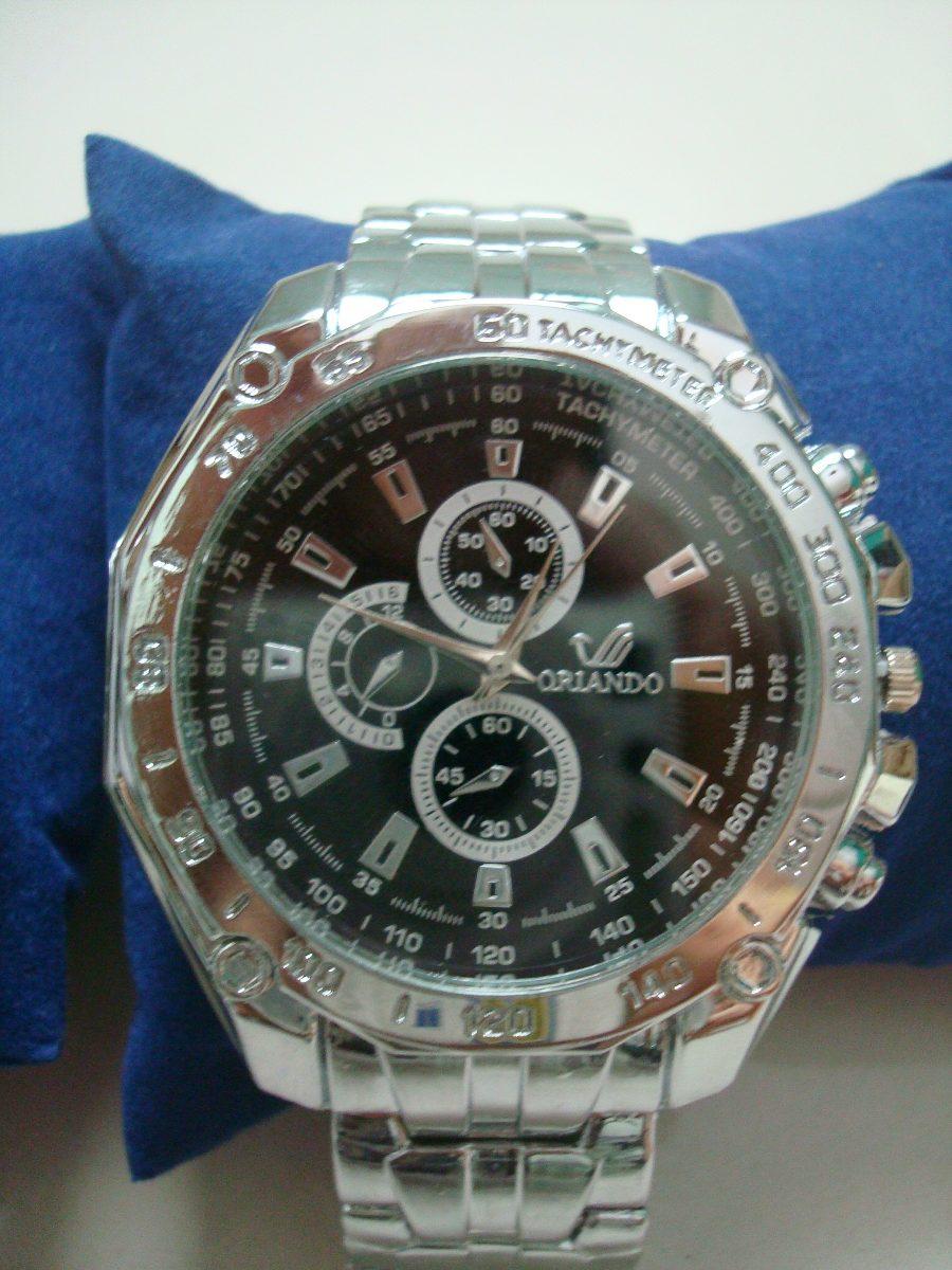 abf5c245aabf8 Carregando zoom... relógio de pulso masculino prata com fundo azul ou preto