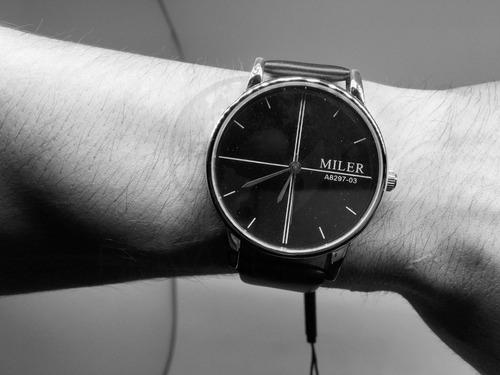 pulso masculino relógio