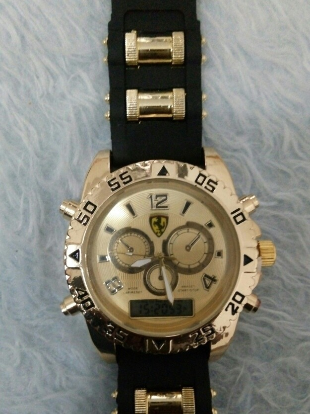 a9f9e874c5d Carregando zoom... relógio de pulso ferrari + pulseira nike brinde  masculino ad