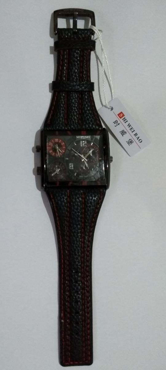 92a44264236 Carregando zoom... relógio pulso masculino red black shiweibao analógico  fuso