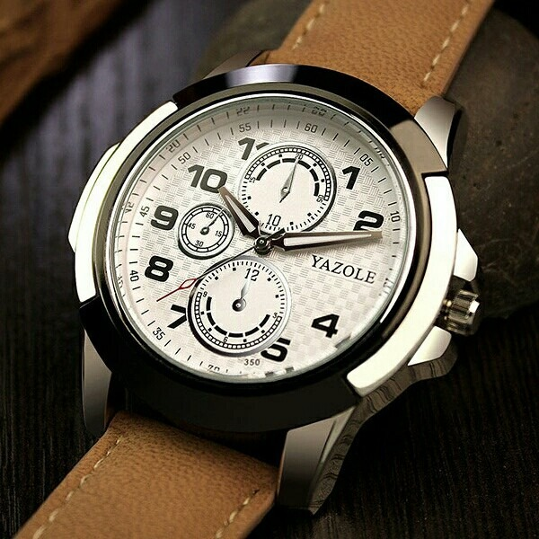 1bbbca547e3 pulso masculino relógio · relógio de pulso masculino yazole social pulseira  de couro