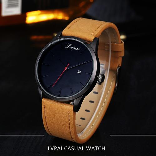a0375131c69 Relógio De Pulso Masculino Barato Pulseira Couro Luxo - R  39