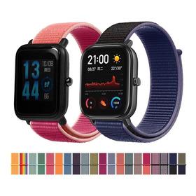 Pulso O Correa Para Bip Gts 20mm Nylon Loop Colores