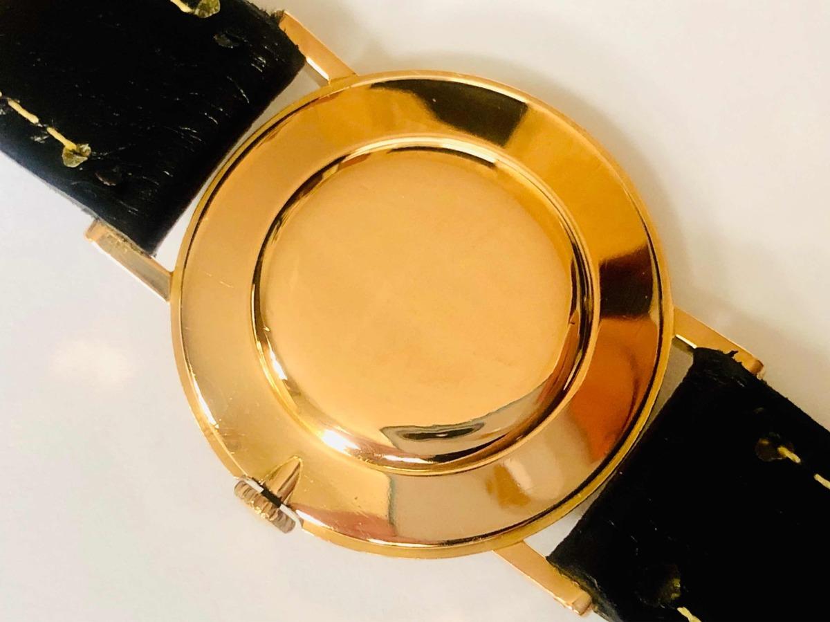 43f0a379778 Raro Relógio De Pulso Suíço Omega Fundo Negro Ouro 18k 0750 - R ...