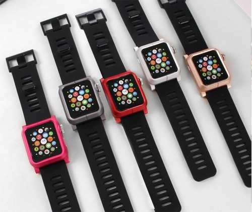 pulso para reloj apple watch series 1 2  iwatch 42mm lunatik
