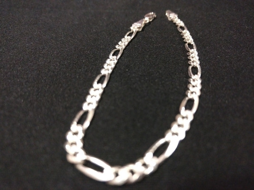pulso pulsera de plata 925 3*1 4mm unisex hombre mujer