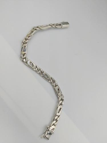 pulso pulsera de plata fina ley .925 egipcia unisex doble br