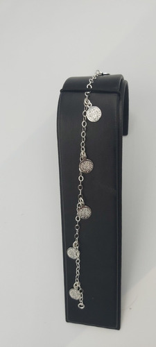 pulso pulsera plata 925 con 4 medallas y cruz de san benito