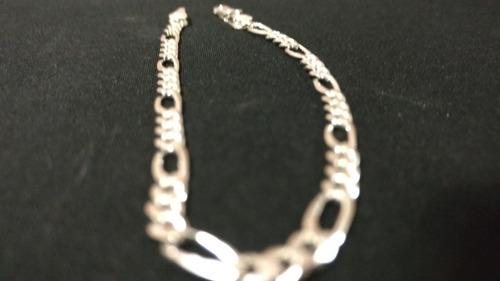 pulso pulsera plata 925 tejido 3*1 hombre mujer unisex 5mm