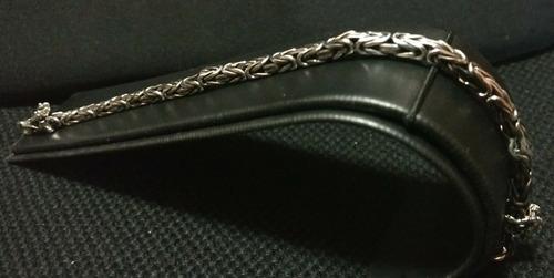 pulso pulsera plata fina 925 caballero bali dragones hombre