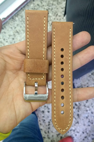 pulso reloj fossil cuero original 24 mm+pasadores+envio