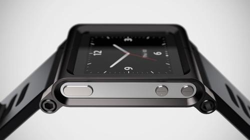 pulso/manilla/reloj ipod nano 6g tipo lunatik negro